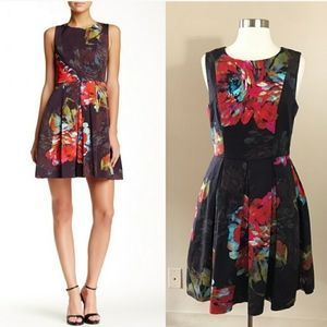 Trina Turk Floral Hanna Fit and Flare Dress